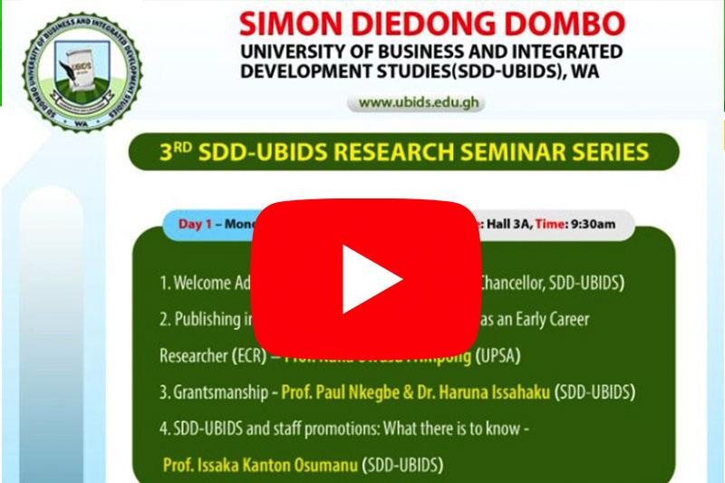3rd Research Seminar aftermath Interview_UBIDS