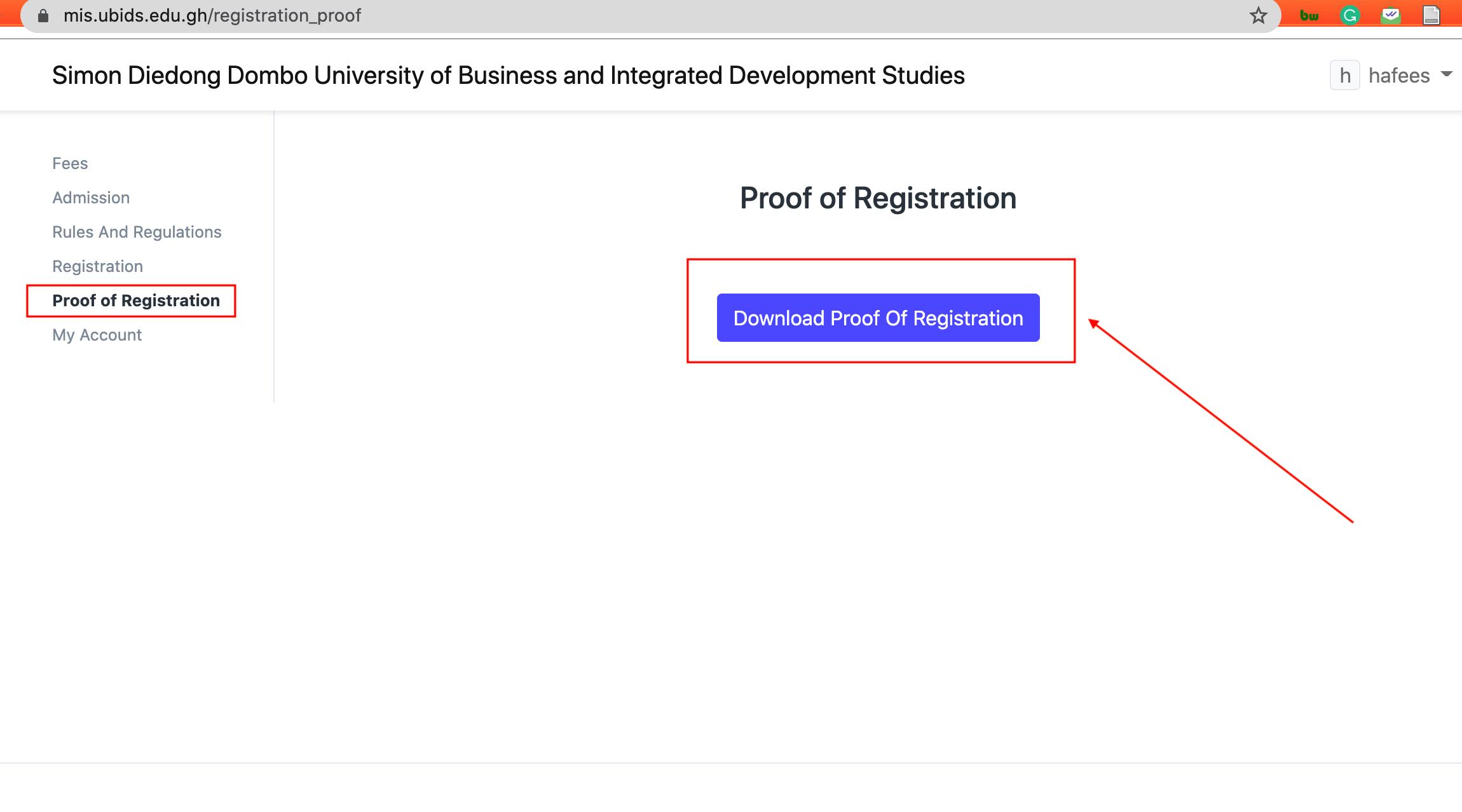 Download Proof of Registration