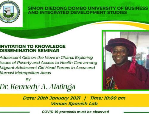 Invitation to Knowledge Dissemination Seminar