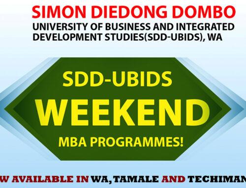SDD-UBIDS Weekend MBA programmes