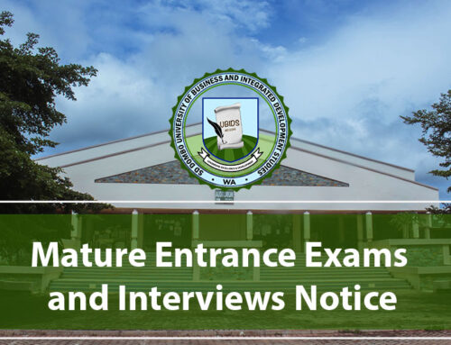 Mature Entrance Exams and Interviews Notice