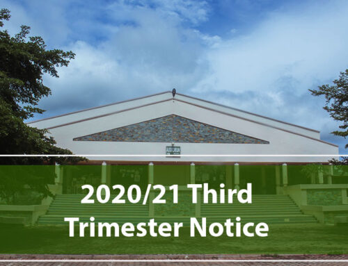 Reopening Arrangements for Third Trimester of the 2020/2021 Academic Year