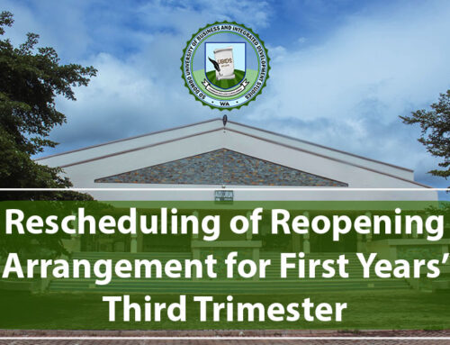 Rescheduling of Reopening Arrangement for First Years' Third Trimester For The 2020/2021 Academic Year
