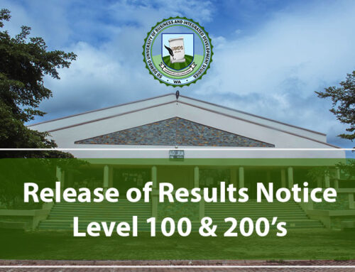 Release of First Trimester Results For First Years And UBIDS Level 200 Students for the 2020/2021 Academic Year