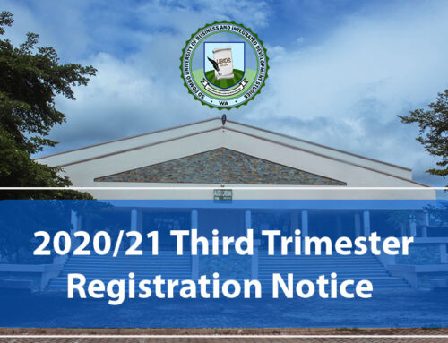 Commencement of Online Registration For The Third Trimester of 2020/2021 Academic Year